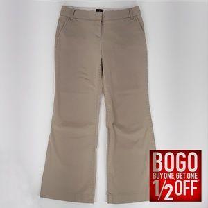 J. Crew   Bootcut Leg Low Rise Pants (Size 8S)